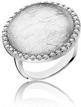Orphelia Argento 925 Damen-anello rodiato argento vetro taglio rotondo misura (19,1) - 60 ZR-3900/60