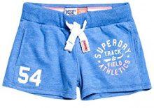 Superdry Track & Field Lite, Pantaloncini Sportivi Donna, Blu (Boardwalk Blue Marl), 40 (Taglia produttore:12)