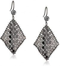 ZEEme 374030007 - Orecchini pendenti da donna, metallo placcato argento