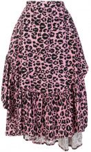 - Barbara Bologna - Gonna animalier con ruches - women - fibra sintetica - S - di colore rosa