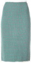 - Dvf Diane Von Furstenberg - knitted skirt - women - fibra sintetica - L - di colore verde