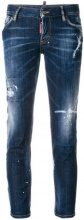 Dsquared2 - distressed skinny jeans - women - Cotone/Spandex/Elastane/Polyester - 36, 38, 40, 42, 44, 46, 34 - Blu