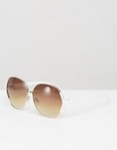 ASOS - Occhiali da sole oversize stile anni '70 con dettaglio bianco sugli angoli