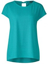 Street One 312129, T-Shirt Donna, Turchese (Sunny Aqua 11345), 48