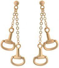 Orphelia PO-025 - Orecchini pendenti da donna, metallo placcato oro