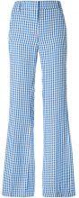 Dondup - Marion patterned trousers - women - Linen/Flax/Viscose - 42 - BLUE