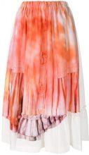 Comme Des Garçons Comme Des Garçons - tie dye midi skirt - women - Polyester/Cupro - S, M, L - YELLOW & ORANGE