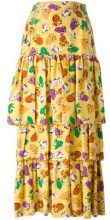 Yves Saint Laurent Vintage - Gonna a balze - women - Silk - 40 - YELLOW & ORANGE