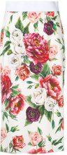 Dolce & Gabbana - Peonie print skirt - women - Viscose/Spandex/Elastane/Silicone - 40, 42, 44 - WHITE