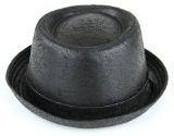 Cappello di pelle Effetto Vintage con Finiture Morbide