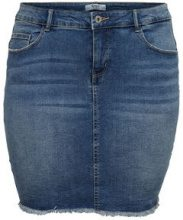 ONLY Curvy Short Denim Skirt Women Blue