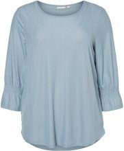 JUNAROSE 3/4 Sleeved Blouse Women Blue