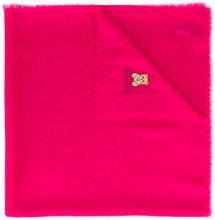 Moschino - Sciarpa 'Toy Bear' sfrangiata - women - Cashmere - OS - PINK & PURPLE