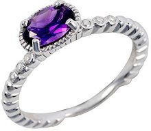 Ivy Gems Donna 925 argento Ovale viola Ametista