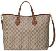 Gucci - GG Supreme tote - women - Canvas/Leather/Microfibre - One Size - NUDE & NEUTRALS
