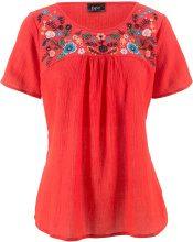 Blusa ricamata (Rosso) - bpc bonprix collection