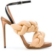 Marco De Vincenzo - Sandali intrecciati - women - Leather/Polyamide/Spandex/Elastane - 36, 36.5, 37, 37.5, 38, 38.5 - NUDE & NEUTRALS