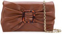 Casadei - Clutch con fibbia tartarugata - women - Kid Leather/Calf Leather/PVC - OS - BROWN