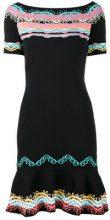 Peter Pilotto - vestito mini lavorato a maglia jacquard - women - Polyamide - S, M, L - BLACK