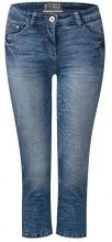 Cecil 371377 Charlize, Jeans Slim Donna, Blu (Authentic Used Wash Mid Blue 10275), W32