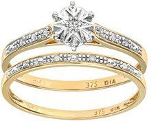 Naava Anello da Donna in Oro con Diamante, Misura 10