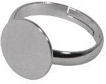 RAYHER 2217621 ferroviario anello in acciaio inox con piatto, 12 mm diametro, SB-Btl, 1 pcs, platin