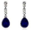 Klaritta E605 - Orecchini pendenti a goccia, per ricevimenti serali, colore: blu zaffiro