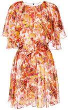 MSGM - floral chiffon dress - women - Silk/Polyester - 42, 44, 38, 40 - YELLOW & ORANGE