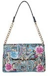 Pia Rossini, Borsa a tracolla donna Blue Paisely/Floral