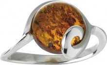 Nature d'Ambre 3111188 - Anello da donna in argento 925/1000 con ambra, Argento 925/1000, 18, cod. 311120558