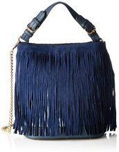 Boscha Borsa con Maniglia Donna, Blu (Blau (Midnight Blue 003)), 26x31x19 cm (B x H x T)