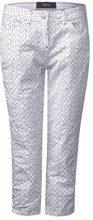 Cecil 371438 New York Minimal, Pantaloni Donna, Bianco (White 20000), W26