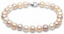 Kimura Perles Donna 9cts (375) Oro bianco Ronde multicolore Perla FINENECKLACEBRACELETANKLET