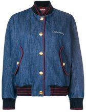 Miu Miu - Bomber di denim - women - Cotton/Virgin Wool/Polyamide/Viscose - 36, 42, 38, 40 - BLUE