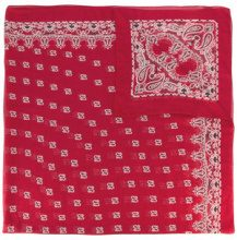 Saint Laurent - Sciarpa con stampa bandana - women - Silk - OS - RED