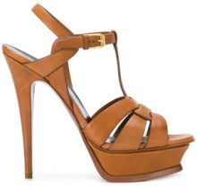 Saint Laurent - Tribute sandals - women - Calf Leather/Leather - 36, 39, 40, 38, 37 - BROWN