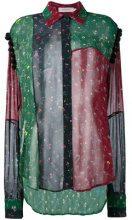 Preen Line - sheer printed patchwork shirt - women - Viscose - XS, M - Multicolore