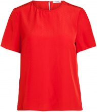 PIECES Short Sleeved Blouse Women Red