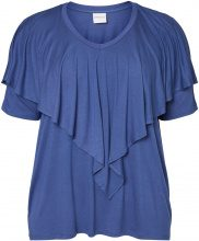 JUNAROSE 2/4 Sleeved Blouse Women Blue