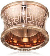 Tommy Hilfiger jewelry–Anello da donna in acciaio inossidabile, Classic Signature–2700818, acciaio inossidabile, 58 (18.5), cod. 2700818E