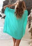 AIYUE Abito Donna Vestito da Mare Spiaggia Copricostume Parei Copri Costume da Pagno Scollato a V Tunica Cover-up Top