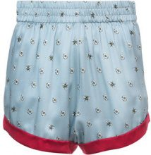 Morgan Lane - daisy bee embroidered Chloe shorts - women - Silk - S, M - BLUE