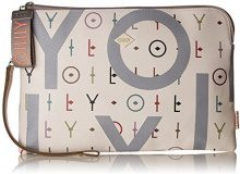 Oilily Jolly Letters Clutch Lhz - Borsette da polso Donna, Bianco (Offwhite), 1x17x25 cm (B x H T)
