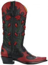 Jessie Western - Stivali cowboy - women - Calf Leather/Leather - 10, 7, 9 - Nero