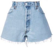 Re/Done - distressed shorts - women - Cotton - 25, 26, 28, 27 - BLUE