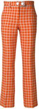 L'Autre Chose - Pantaloni crop - women - Silk/Polyamide/Polyester/Cupro - 40, 42, 44 - YELLOW & ORANGE