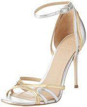 Guess Footwear Dress Sandal, Scarpe con Cinturino alla Caviglia Donna, Oro, 38 EU