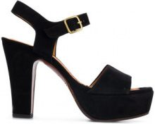Chie Mihara - Sandali 'Xarco' - women - Leather/Suede/rubber - 36, 38.5, 39 - Nero