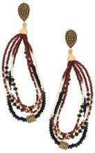 Camila Klein - beaded earrings - women - Metal (Other) - OS - METALLIC