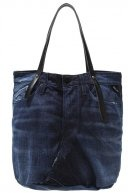 Shopping bag - blue black denim/black